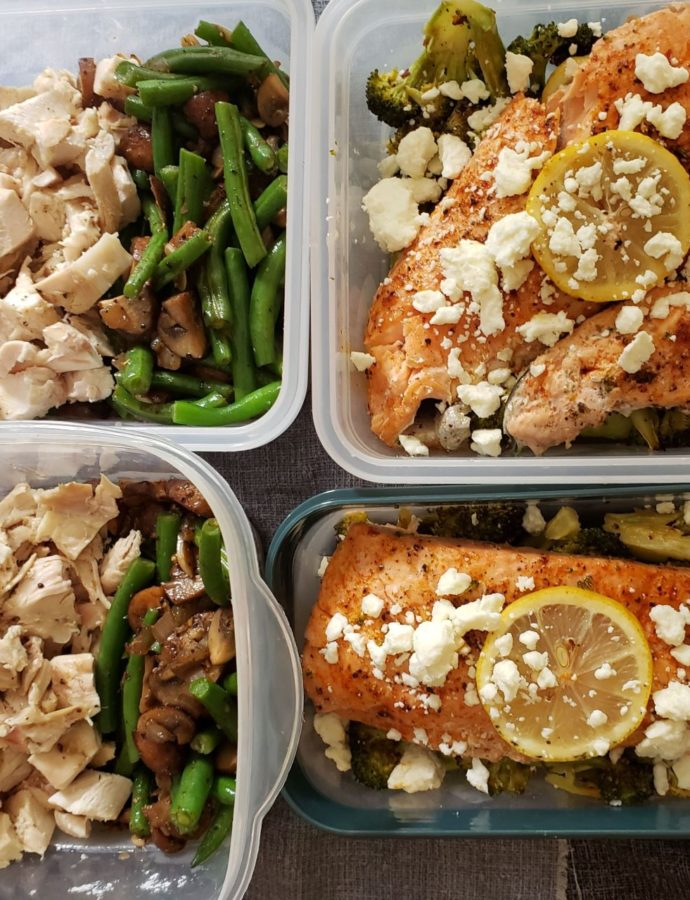 Roasted Chicken and Salmon Meal Prep